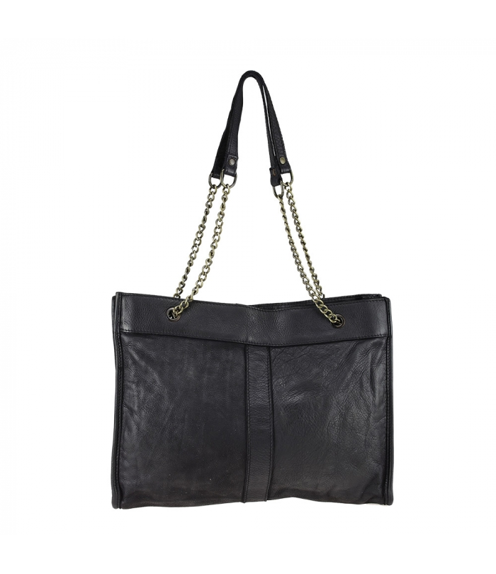 VANESSA - Leather bag with vintage effect