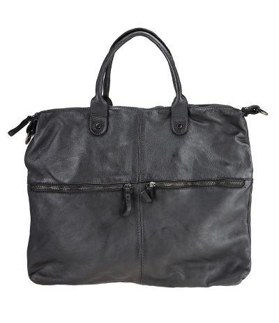Leather bag briefcase vintage effect