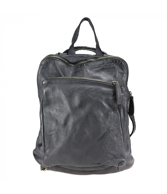B&B - Leather backpack with vintage effect