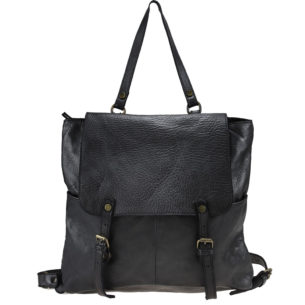 ELIO -  Leather backpack with vintage effect