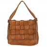 LINET - Leather bag  braided leather vintage effect
