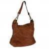 Annabet - little Leather bag  braided leather vintage effect