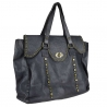 Woman leather bag with vintage effect