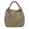 Woman bowler leather bag with vintage effect