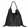 Leather bag  braided leather vintage effect