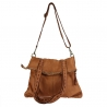 Aged effect leather bag