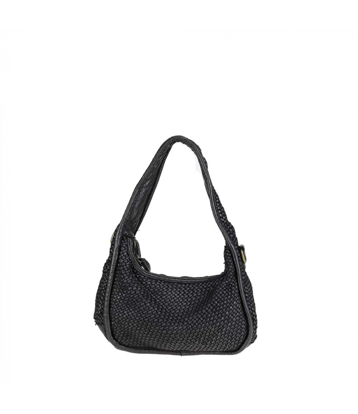 Small bag in woven leather