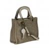 LINA - Little Leather bag  braided leather vintage effect