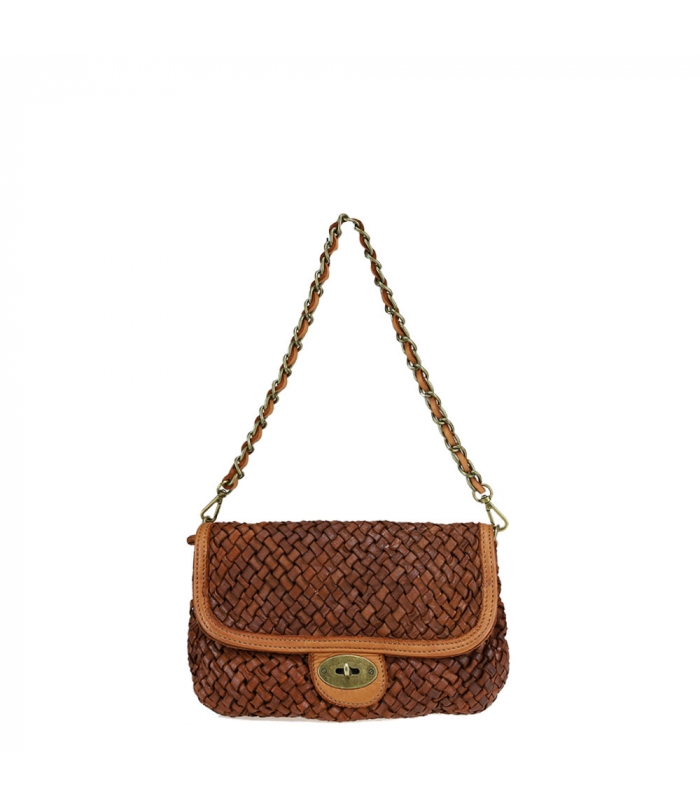 Pochette -shoulder bag with braided leather