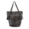 Leather bag with vintage effect