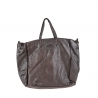 Woman leather handbag  with vintage effect