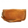 leather wallet for women  with vintage effect