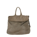 Leather backpack with vintage effect - Convertible into a shoulder bag