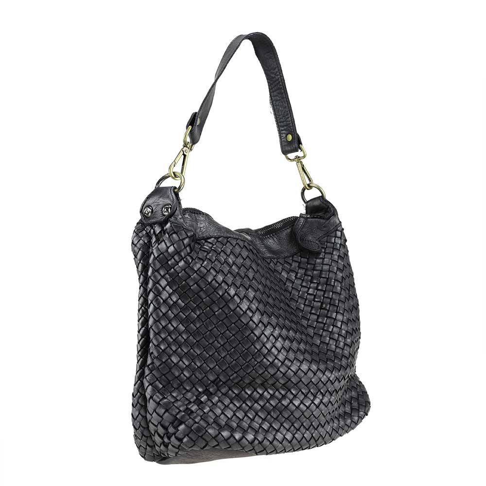 ittle Leather bag  braided leather vintage effect